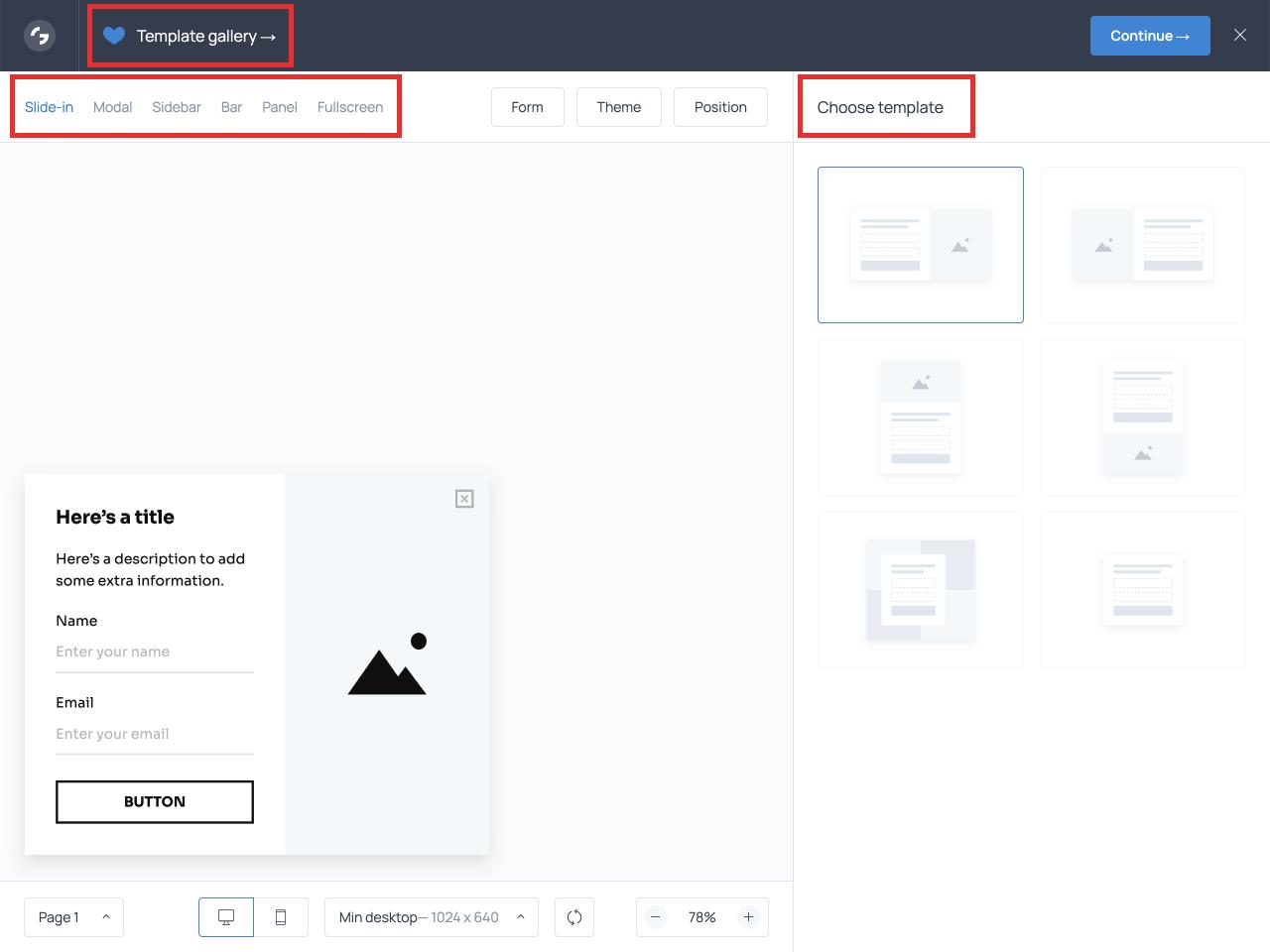 Online survey form builder