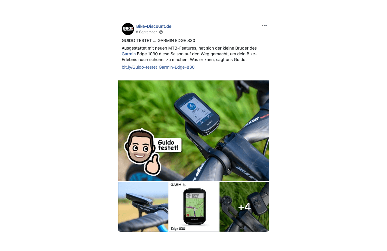 A Bike-Discount employee reviews one of the store's products