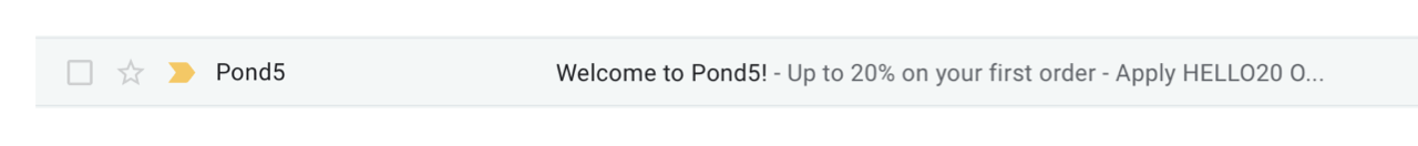 Win-back email subject line example by Pond5
