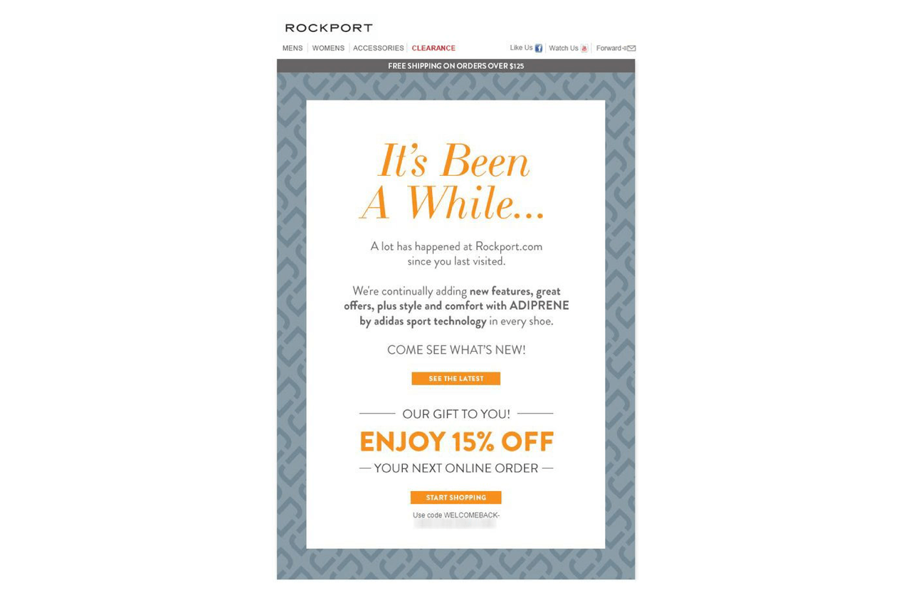 A great win-back email mentions the key reasons a customer chose that brand at some point