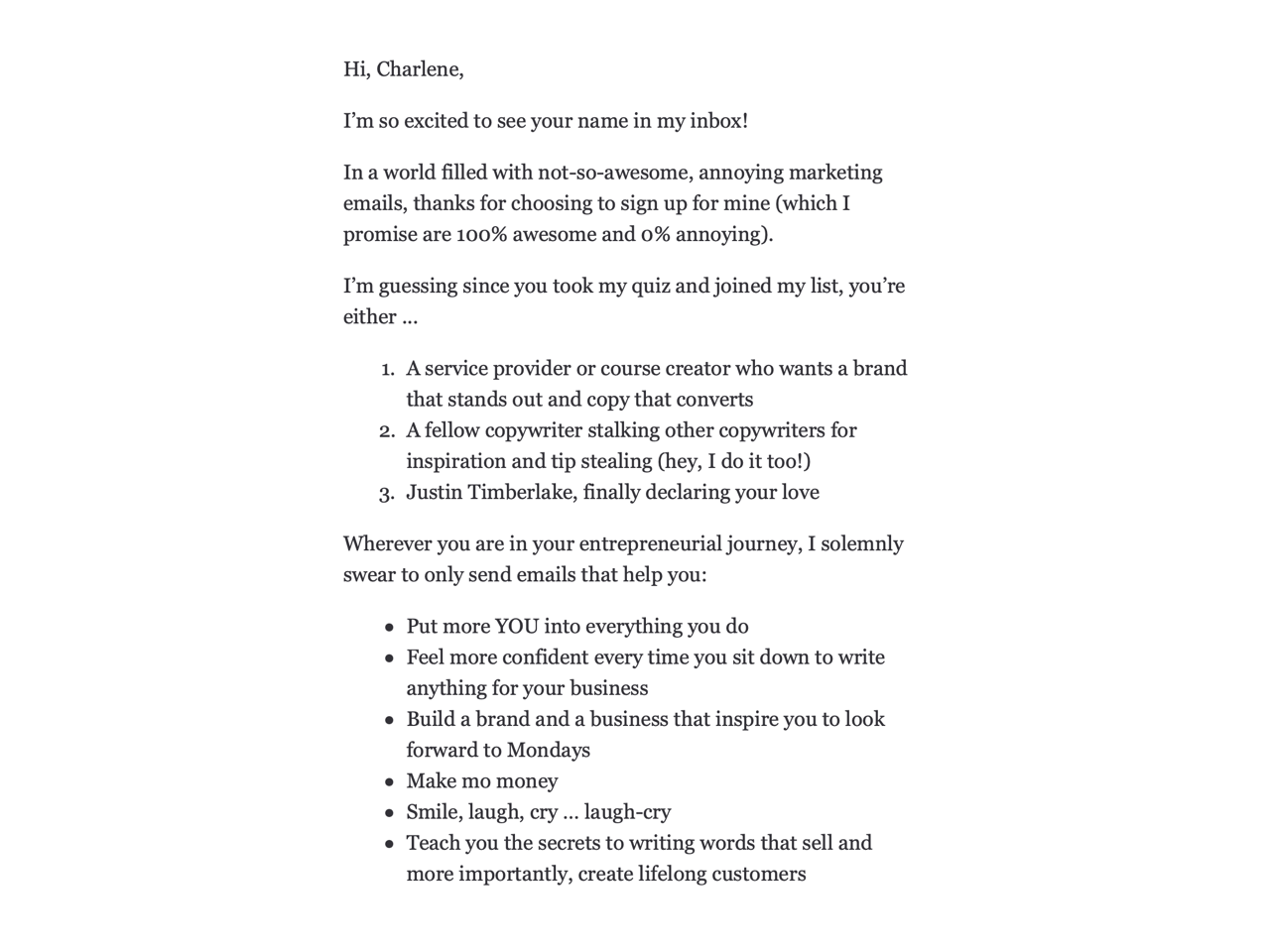Having a welcome email is a great way to set expectations from your newsletter