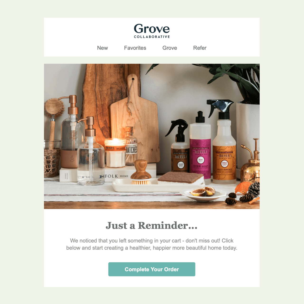 Grove pictures a lifestyle their customers might be missing out by not completing the purchase