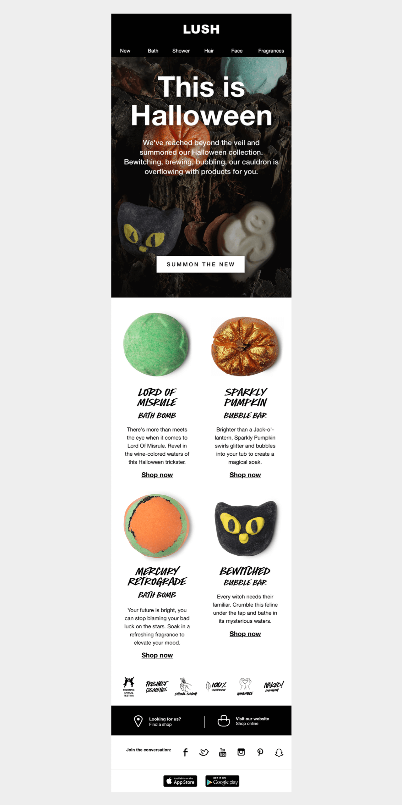 Lush launches Halloween email marketing campaign