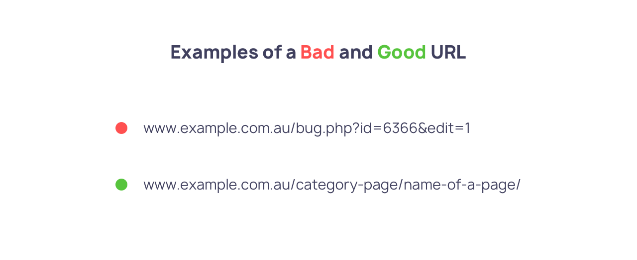 Including target keywords in the URL slug will help your product page SEO