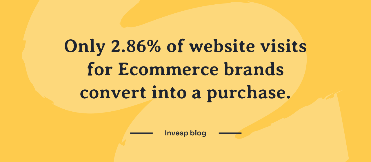 Ecommerce stats show that less then 3% of ecommerce website visits convert into a purchase