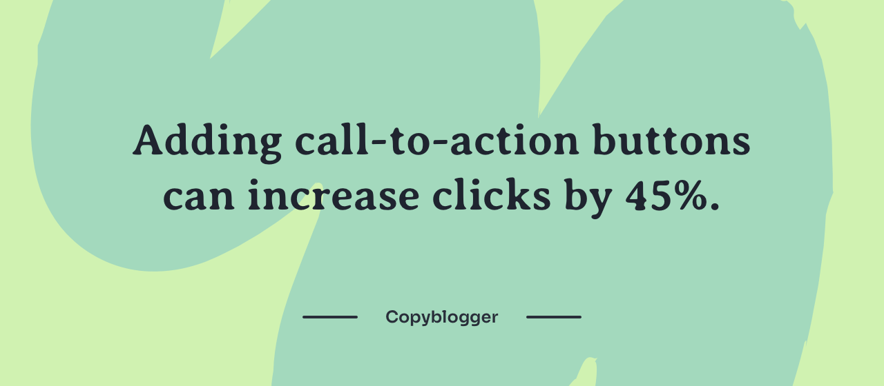 CTA buttons increase mobile ecommerce website click-through rate by 45%