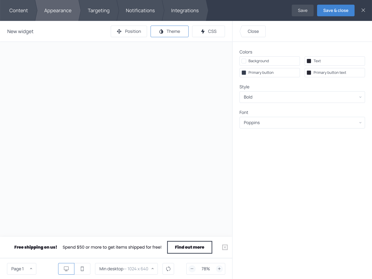 How to change colors and font on your shipping bar