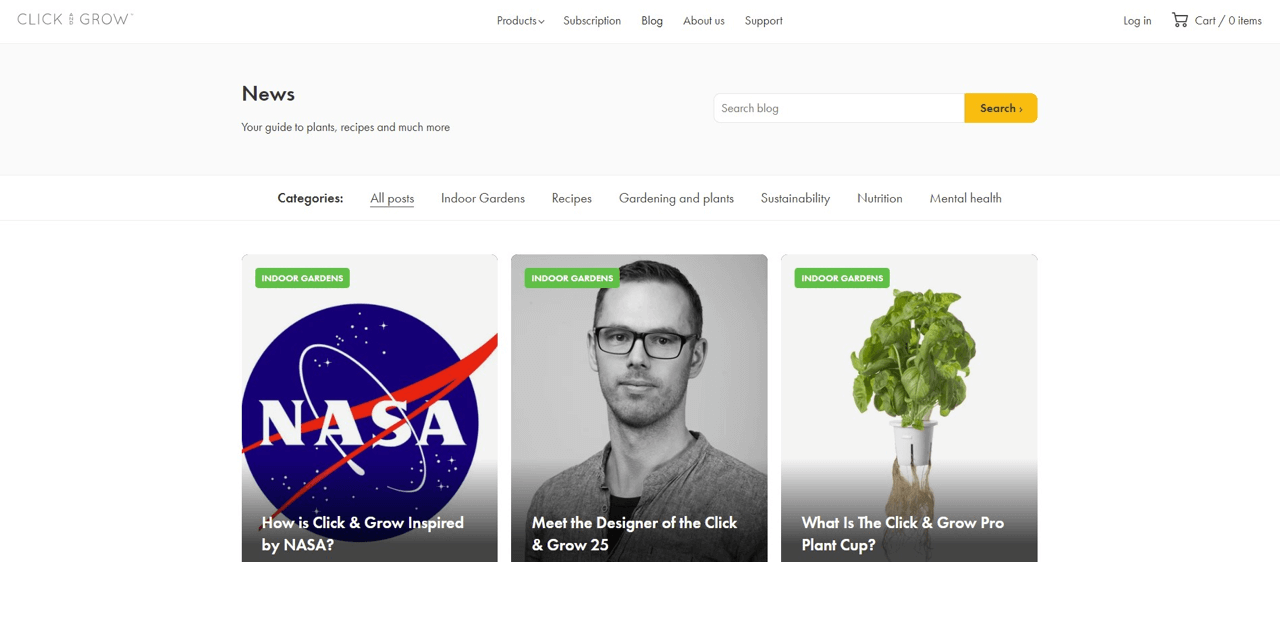 Click and Grow use their Shopify blog to talk about deeper ways to use their products