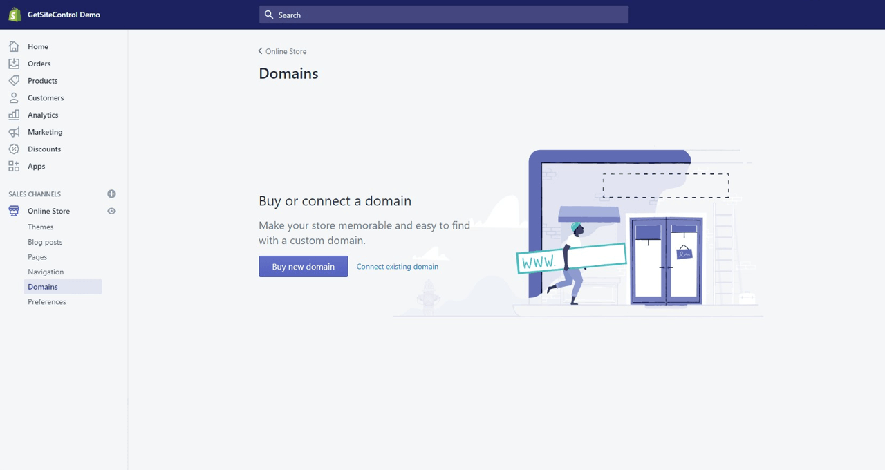 Connect your store domain to Shopify