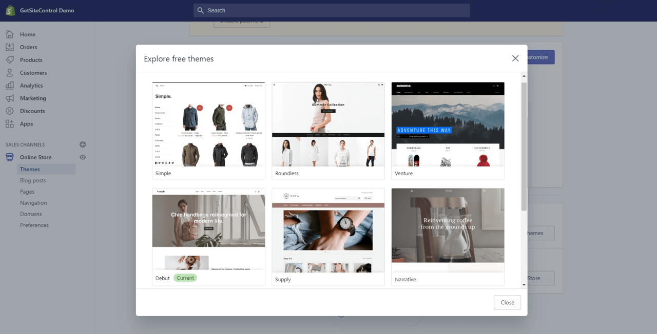 Free themes for your Shopify store