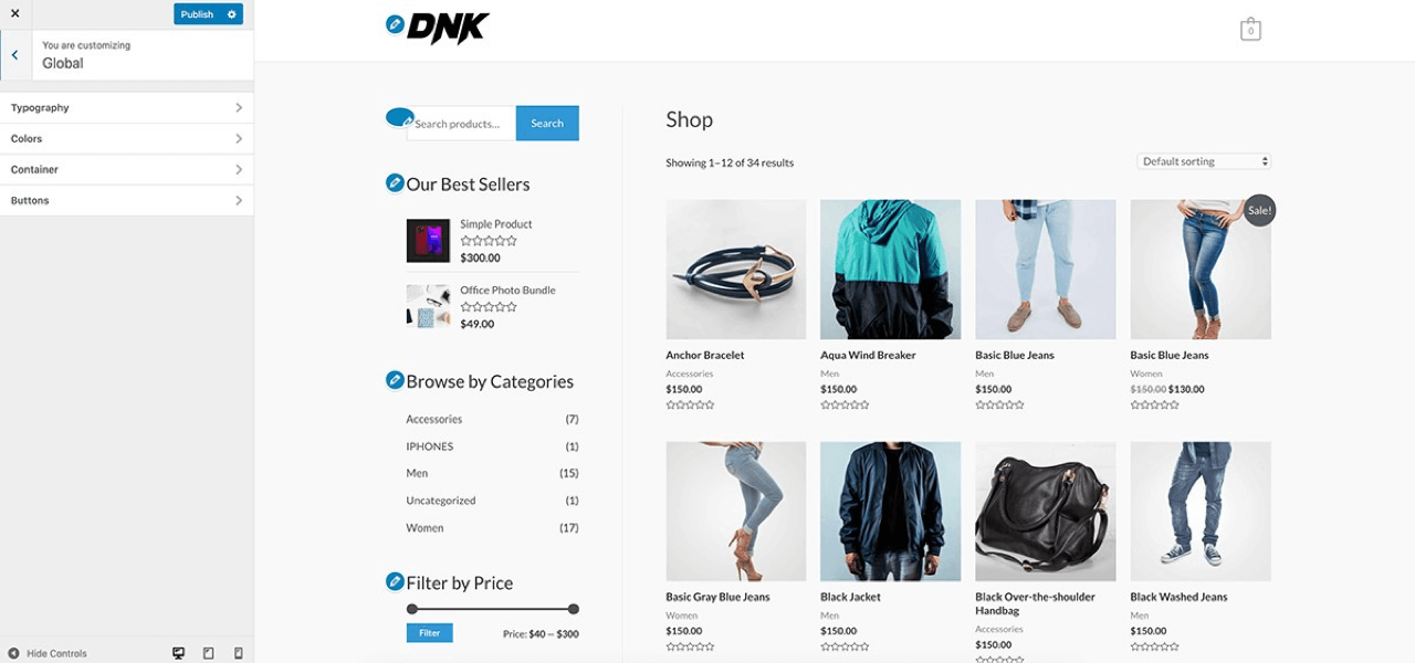 Customize the look of your store using WooCommerce settings