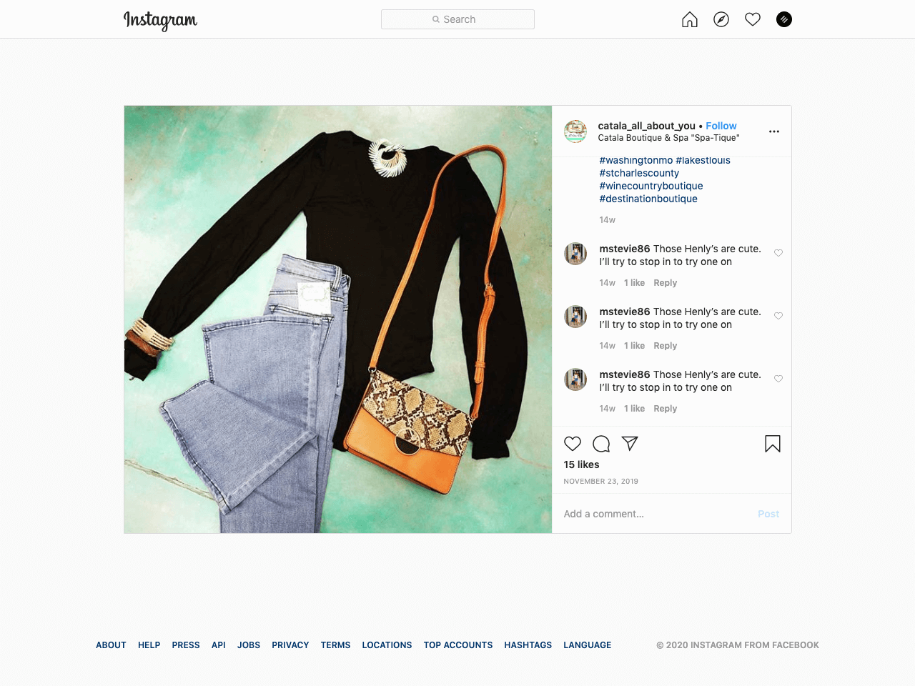 How to effectively sell clothes and accessories on Instagram without a website