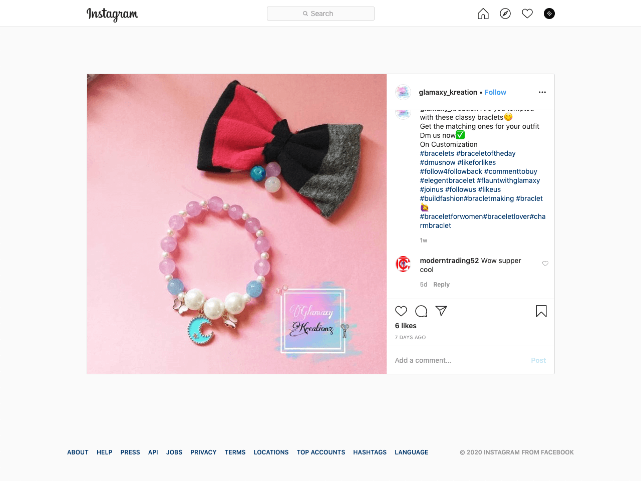 Using DMs to connect with buyers when selling handmade exclusive items on Instagram