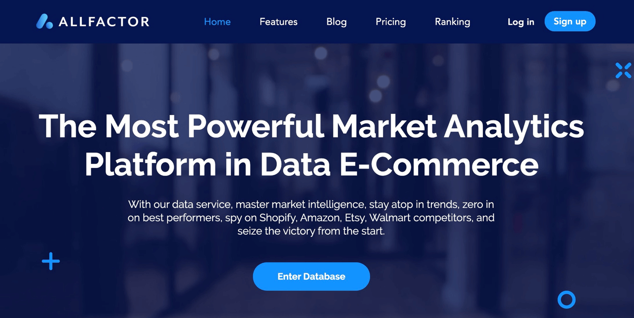 Allfactor aggregates billions of valuable data from the largest ecommerce companies