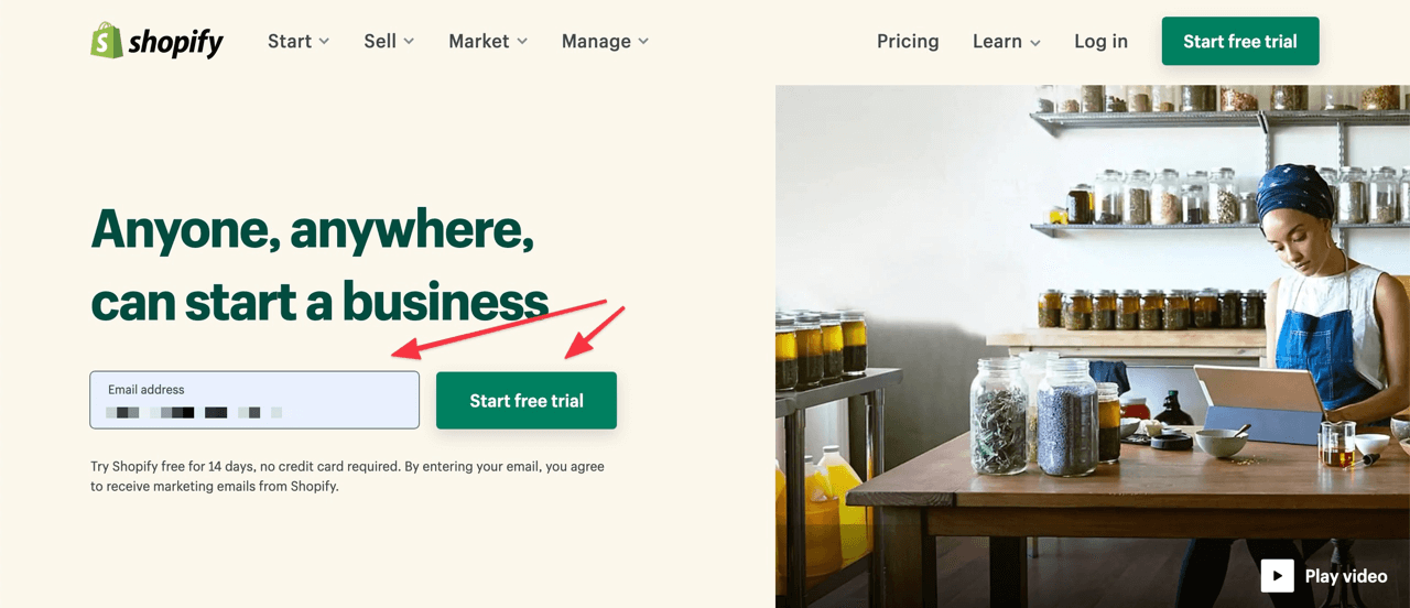 How to sign up on Shopify and open your dropshipping store