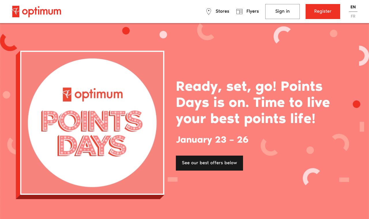 PC Optimum gives away extra points to promote their special offer