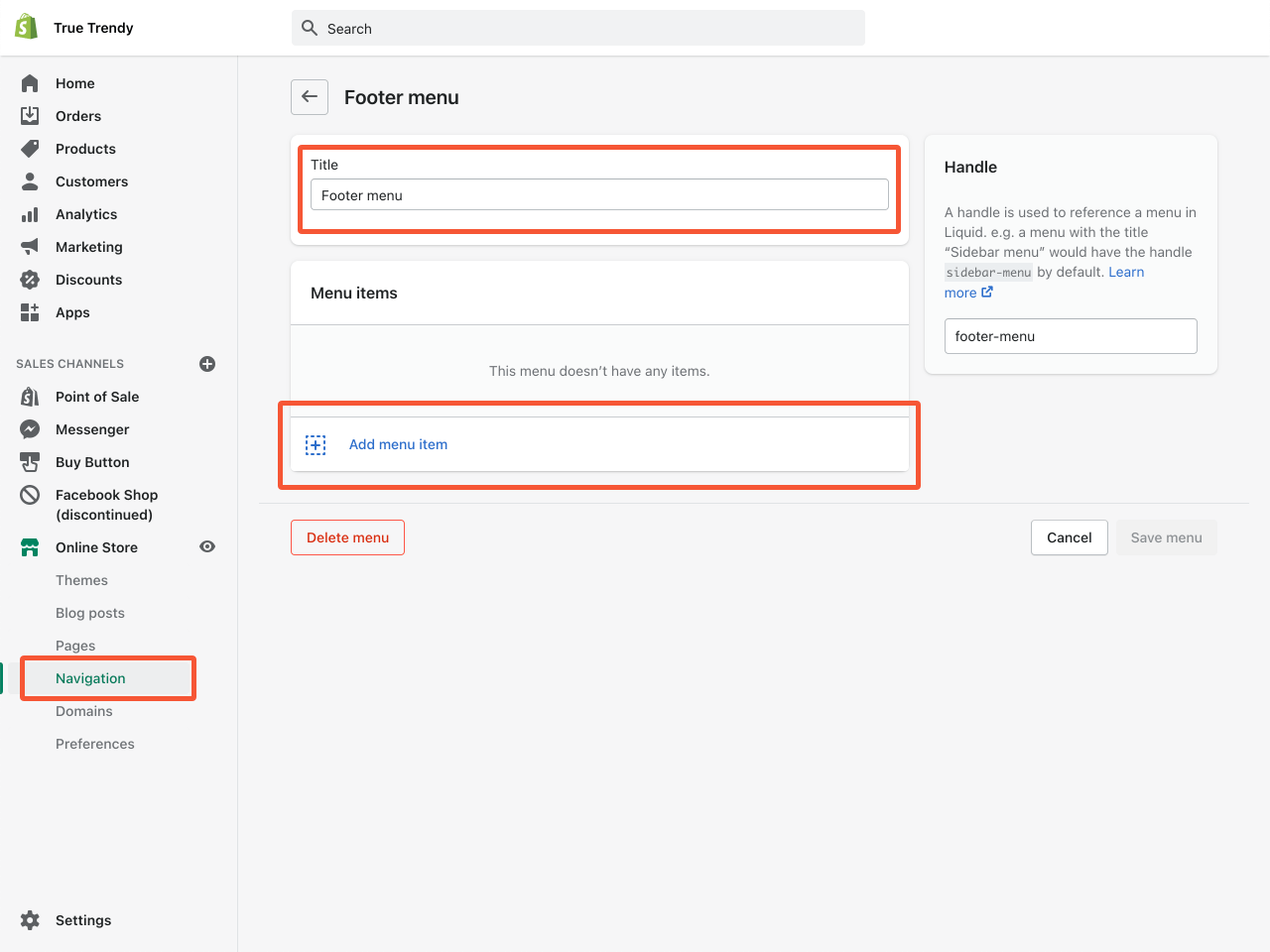 How to create a Shopify About Us page. Step 2