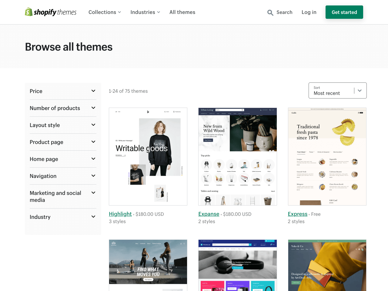 Shopify About Us page official theme store