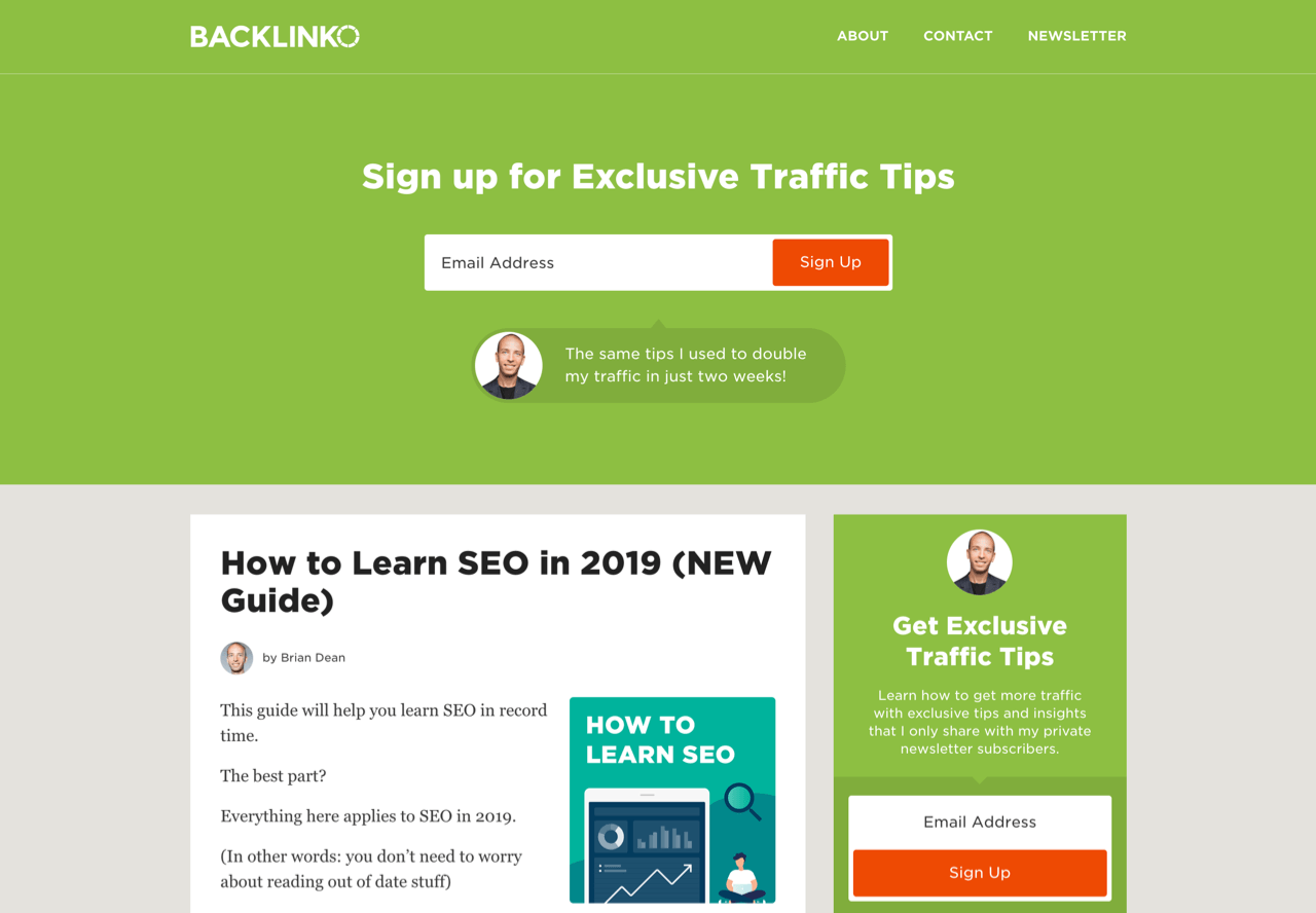 7 Great Email Newsletter Signup Examples