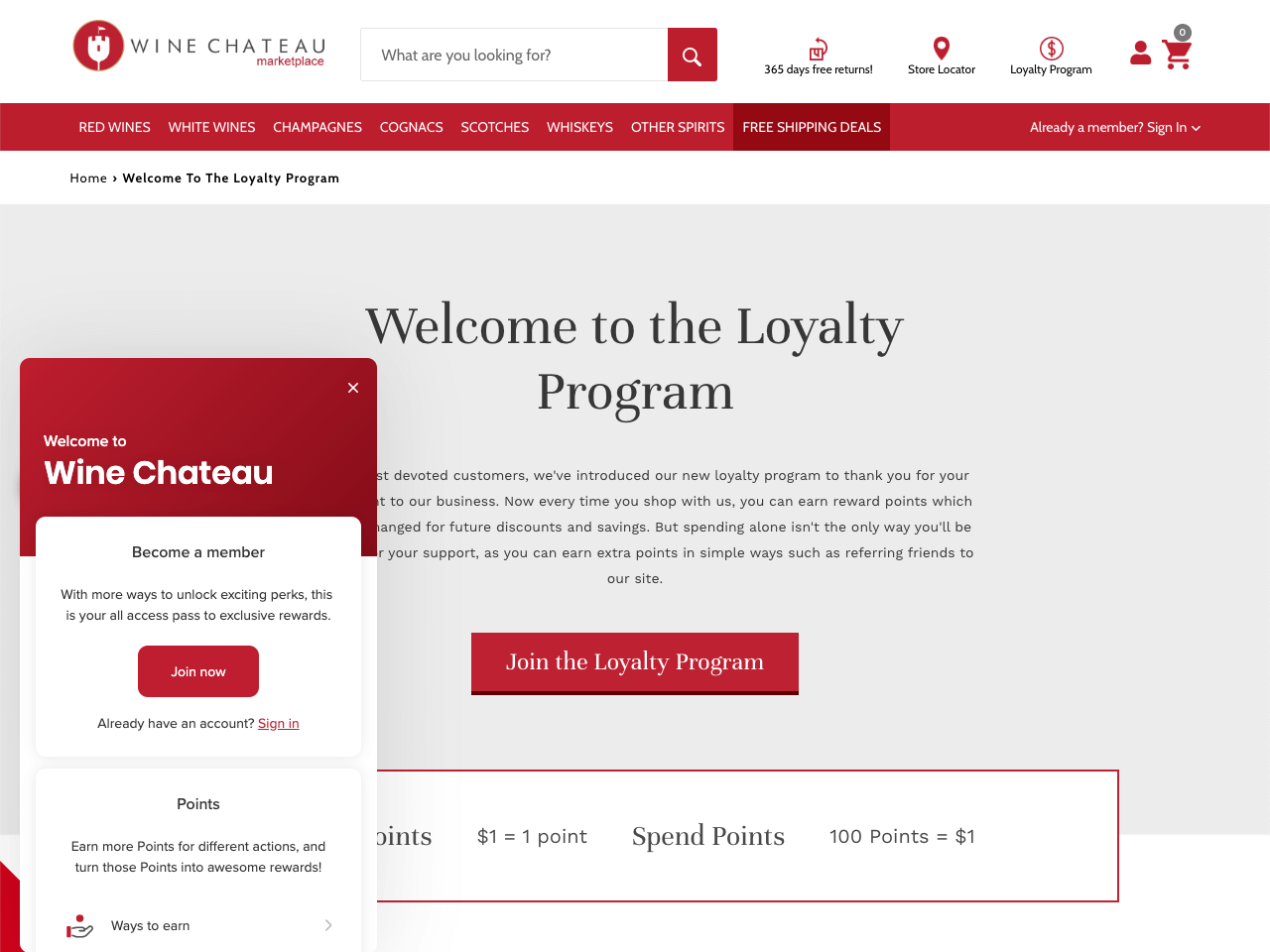Wine Chateau showcases their loyalty program and ways to earn points