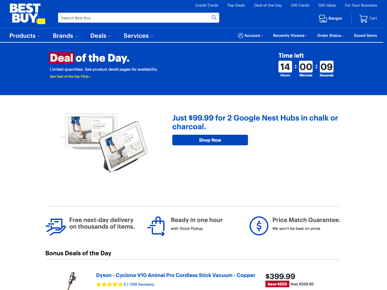 Blue Apron catches a leaving visitor's attention with a modal limited time offer popup that has a countdown timer
