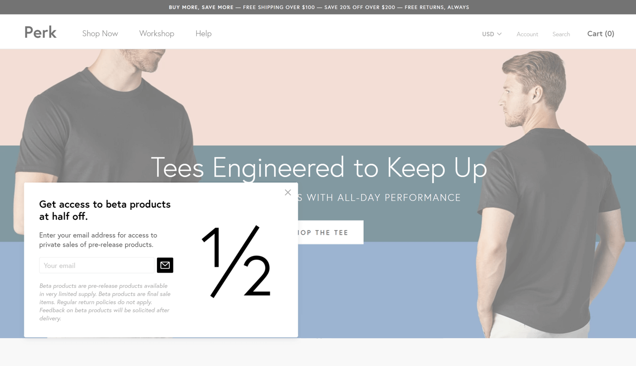 How to design a popup using a sense of urgency