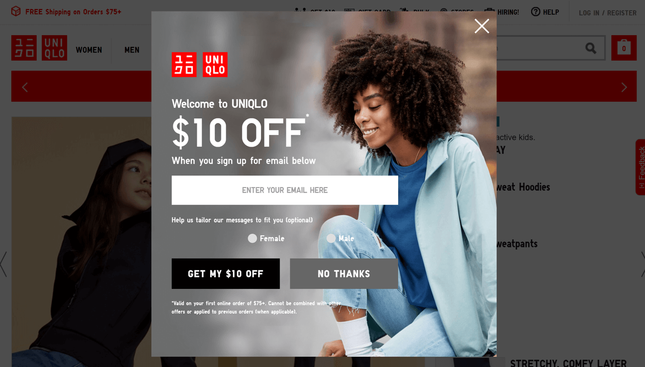 How to design a welcome popup