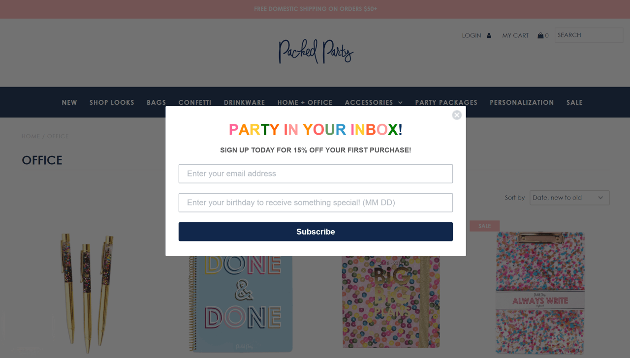 Minimalistic but catchy popup design – sticky bottom page bar