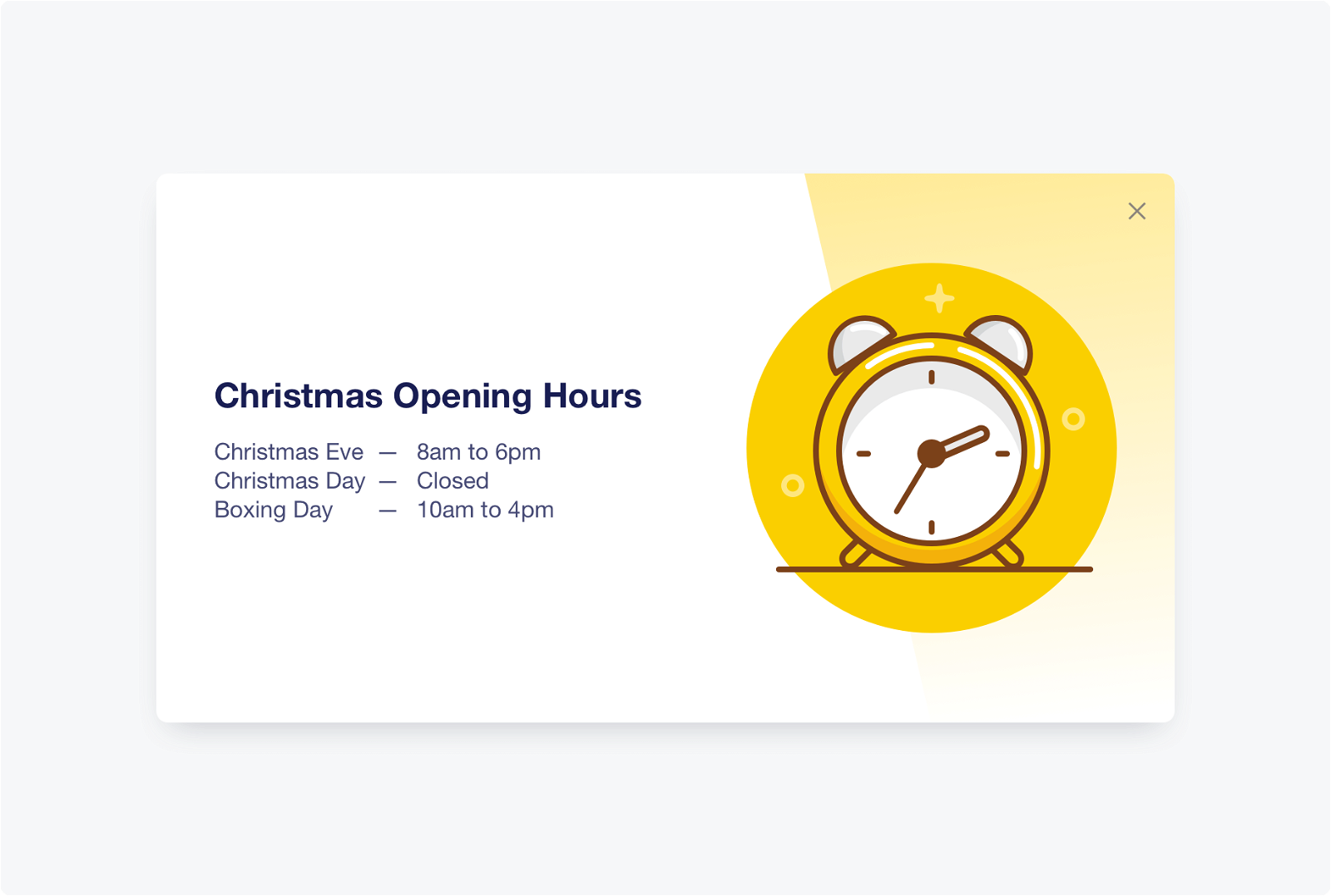 New Christmas icons for your website popups!
