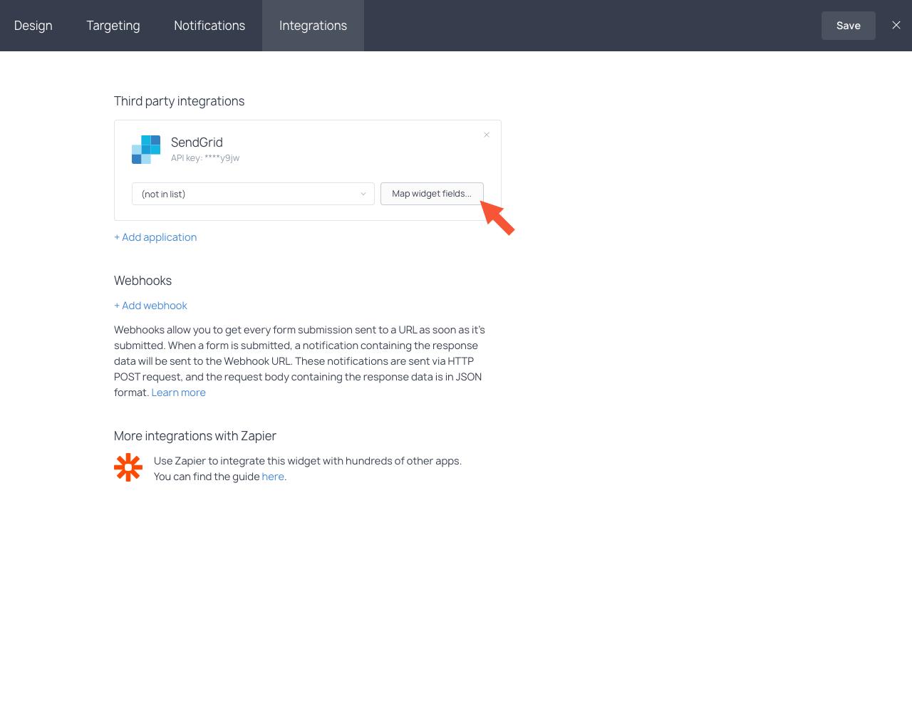 Selecting a SendGrid mailing list