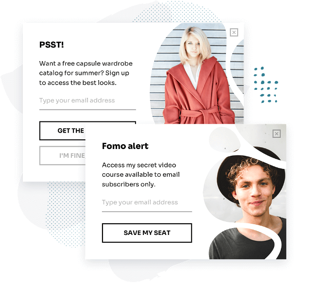 Stylish and targeted popups