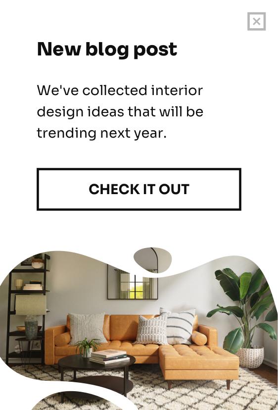 Website exit popup
