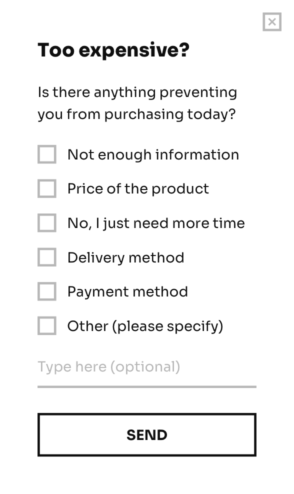 Subscribe form with two buttons