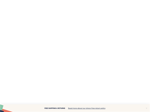 A white sticky bar template for Shopify stores to notify about free