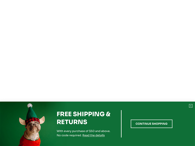 Free shipping and returns are the must-haves of any Christmas promotion campaign