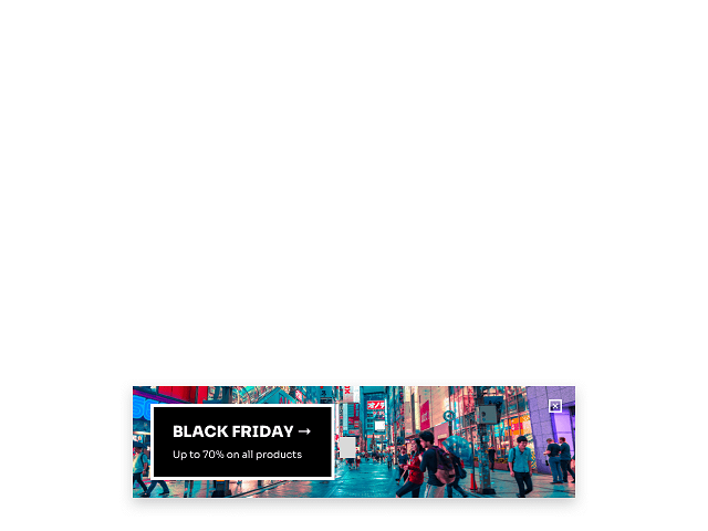 Getsitecontrol BLACK FRIDAY popup
