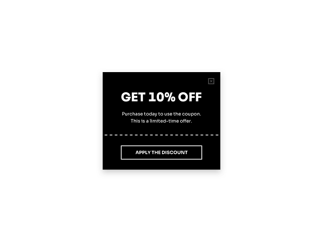 Use Getsitecontrol popups to display a discount coupon on Shopify