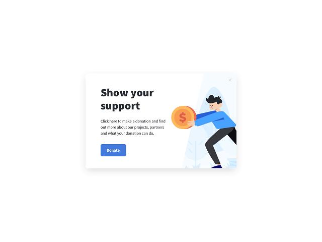 Getsitecontrol donation popup example