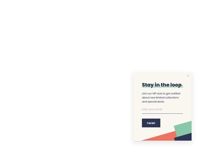 A stylish newsletter subscription slide-in designed in Getsitecontrol