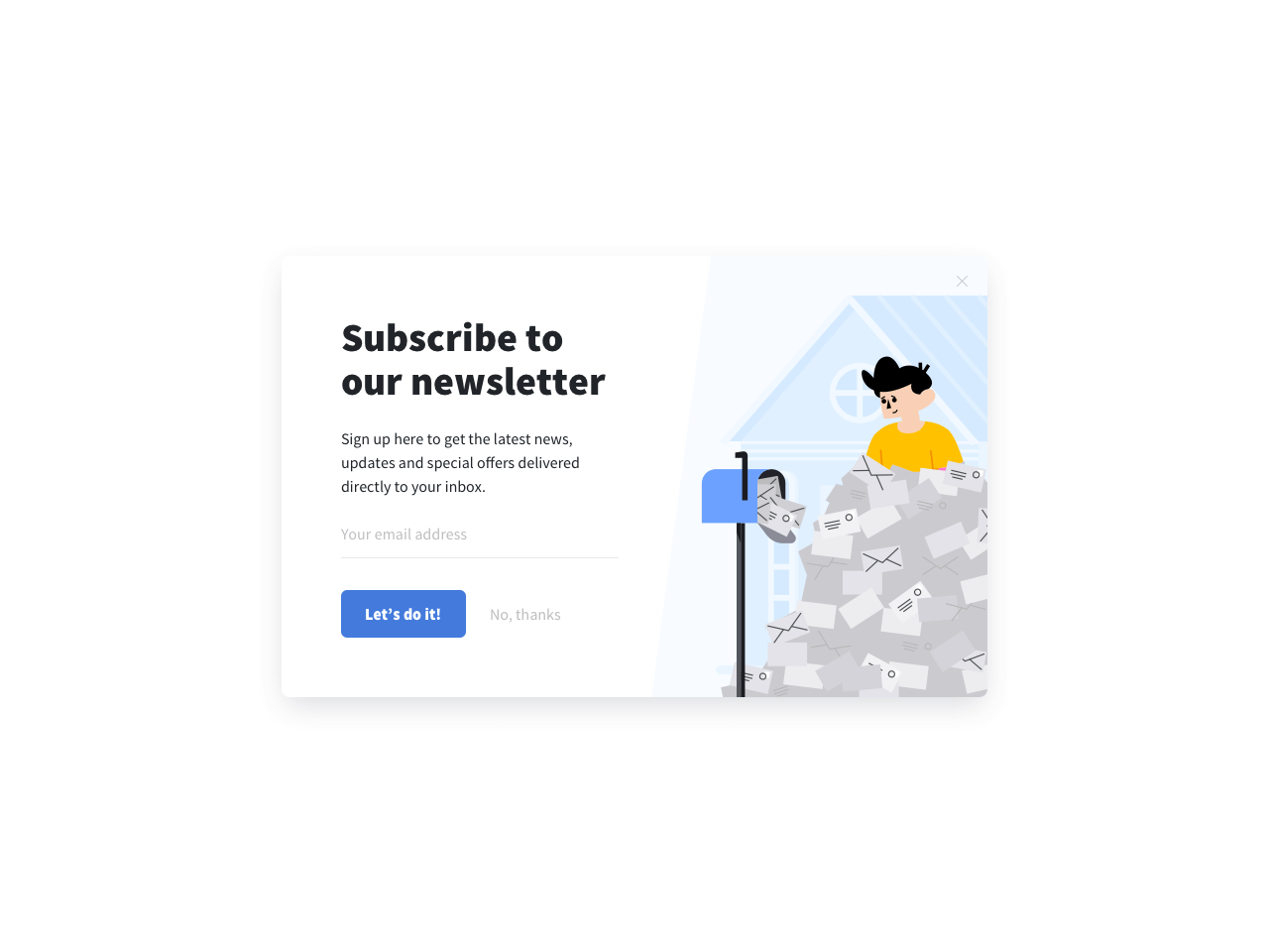 Email subscription forms for Shopify