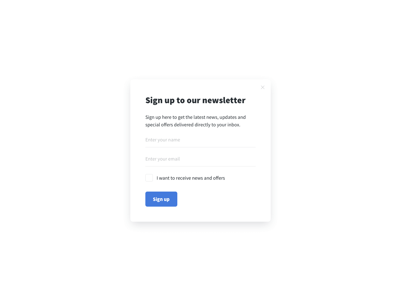 GDPR-compliant newsletter signup form by Getsitecontrol