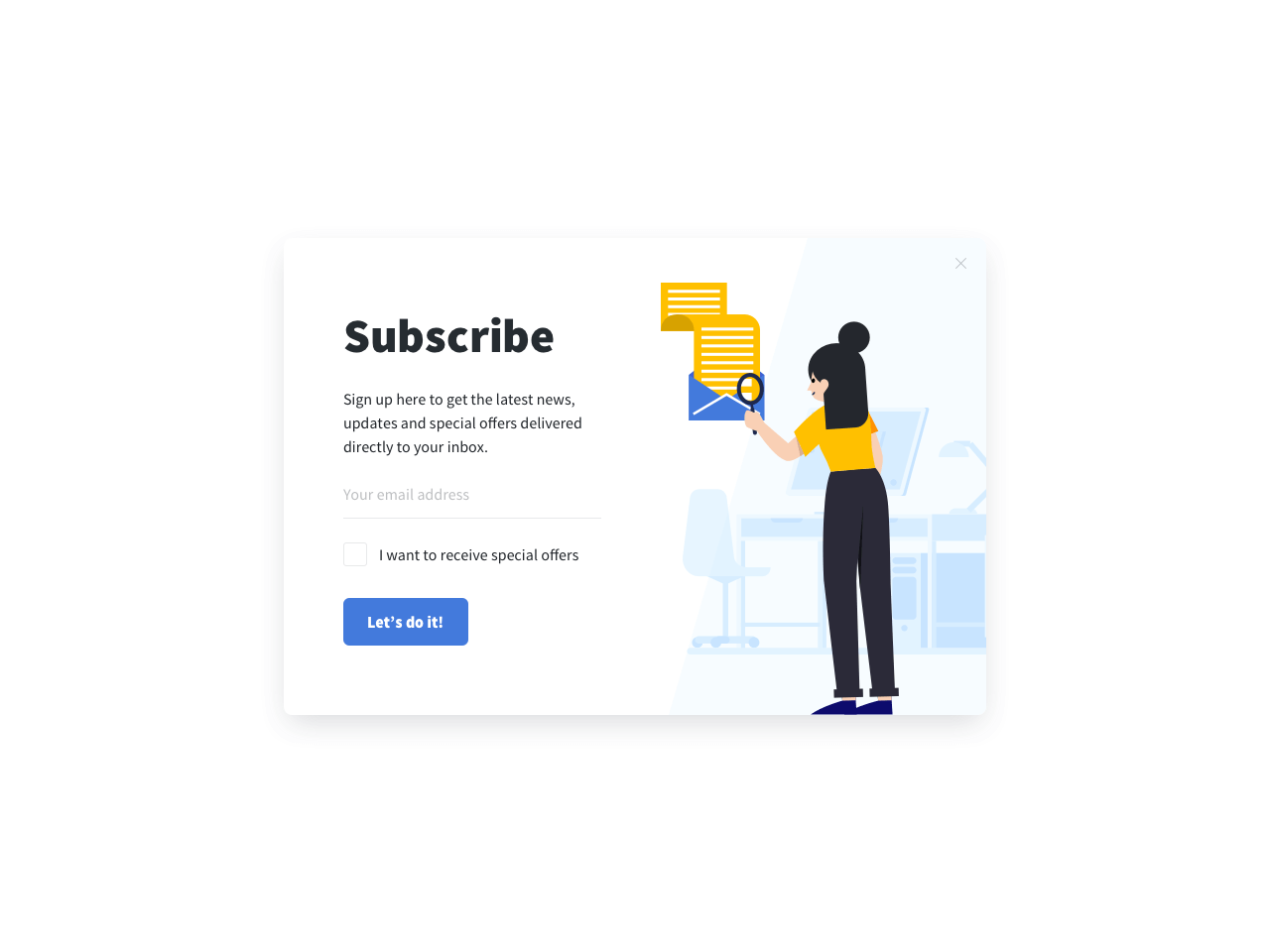 Email subscription popups for Weebly