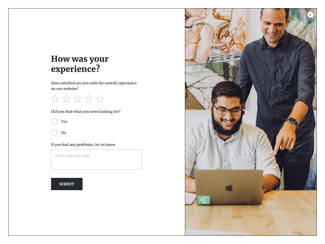 Website surveys are a proven way to evaluate user experience