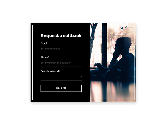 A simple callback form helps you guarantee customer assistance upon request