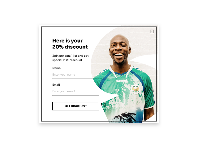 Welcome discount popup is a surefire way to get more email subscribers for an ecommerce store