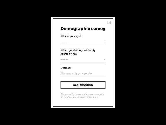 Demographic survey form template powered by Getsitecontrol