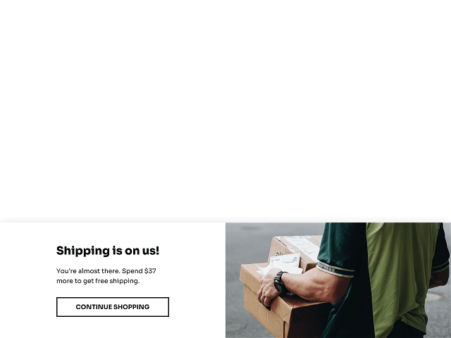 Bottom page free shipping bar for Shopify