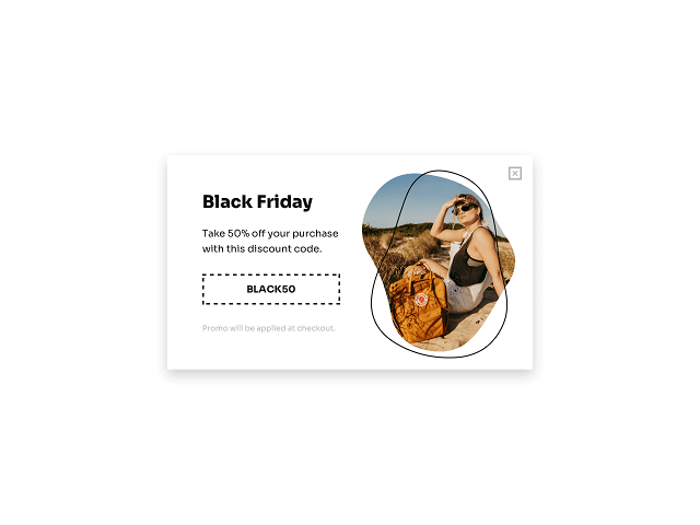 Use website popups to offer coupons on Black Friday