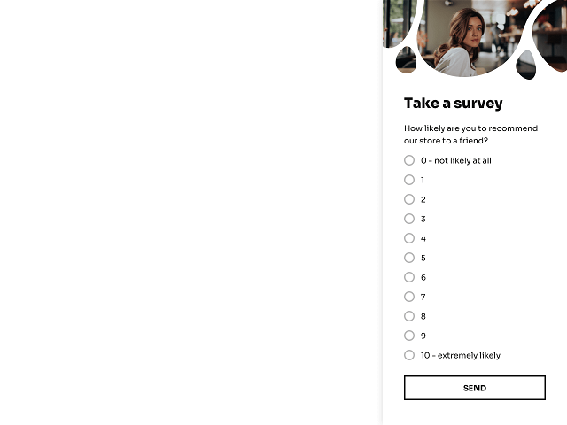 Net promoter score survey triggered by the exit intent