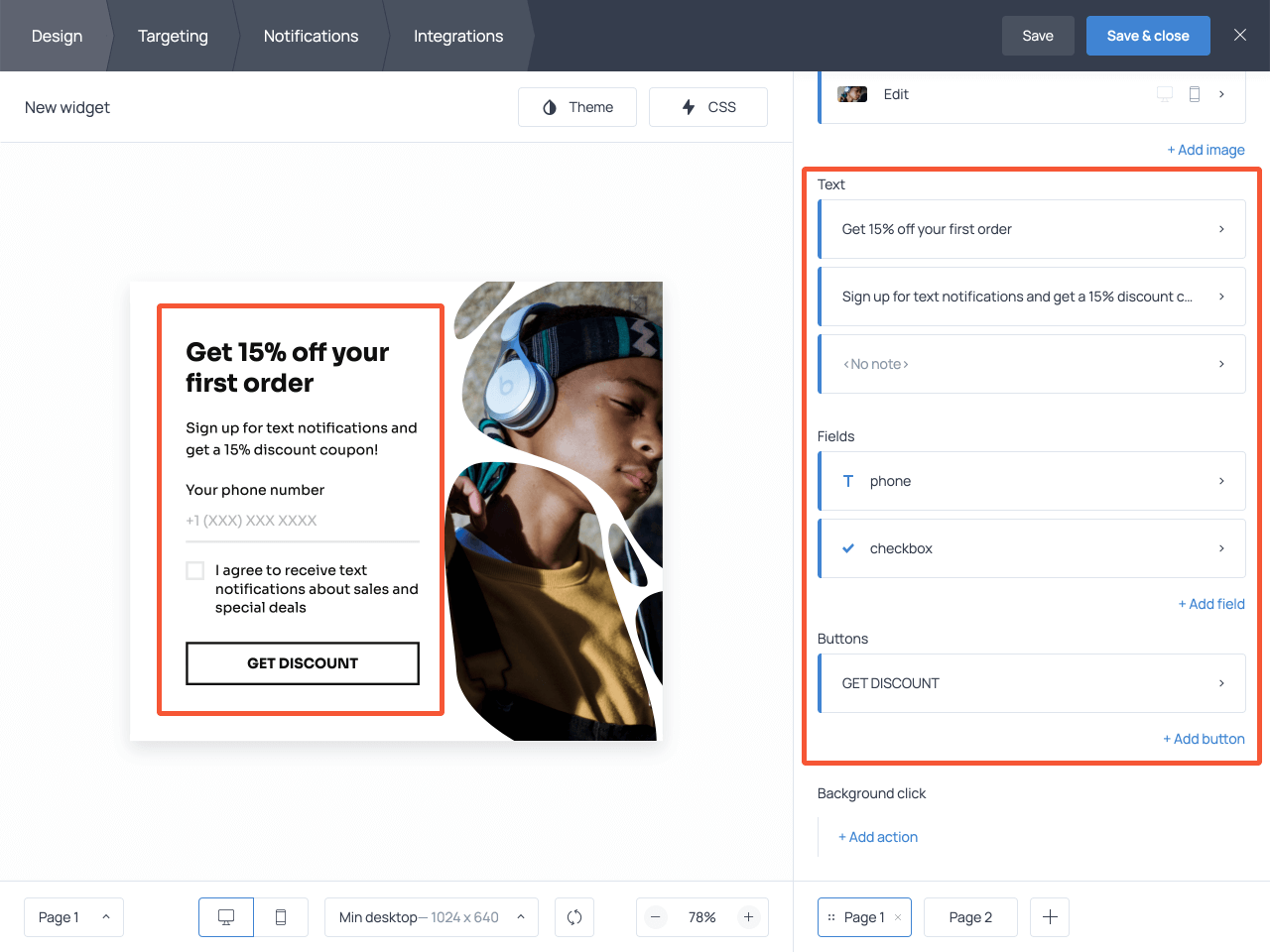 How to edit phone number capturing popup